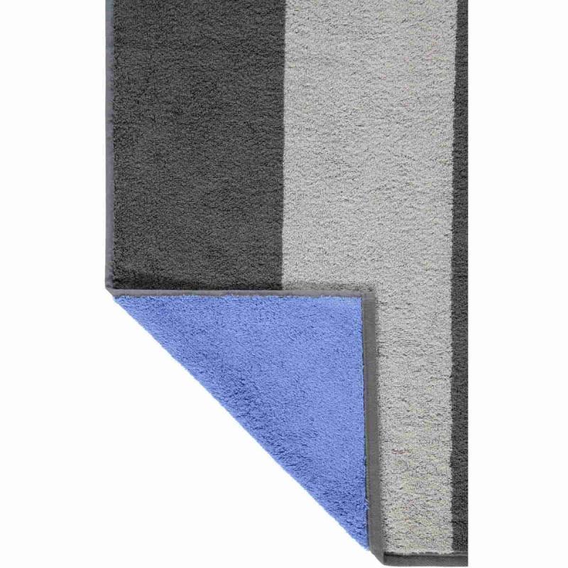 Cawö extra lång bastuhandduk 80x200 cm 599-71 anthracite - blue