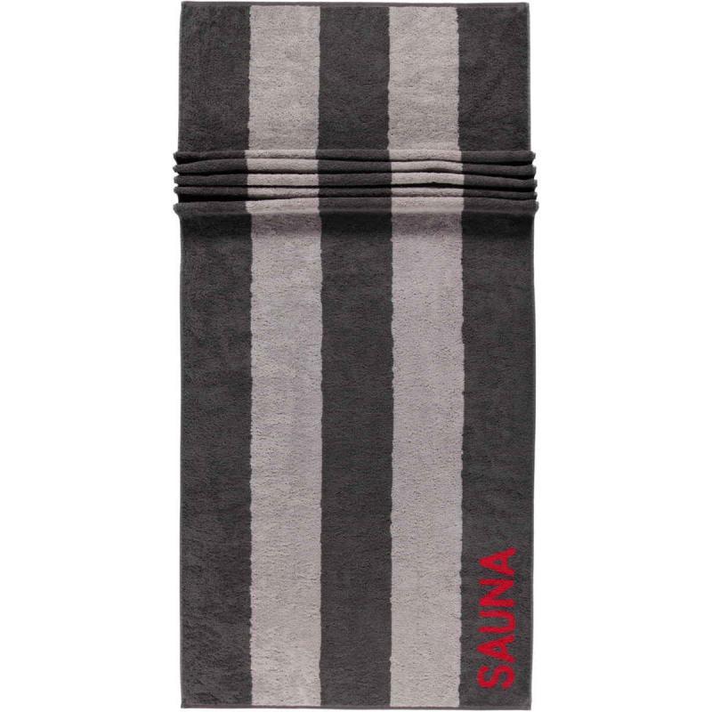 Cawö extra long terry sauna towel 80x200 cm 599-72 anthracite - red