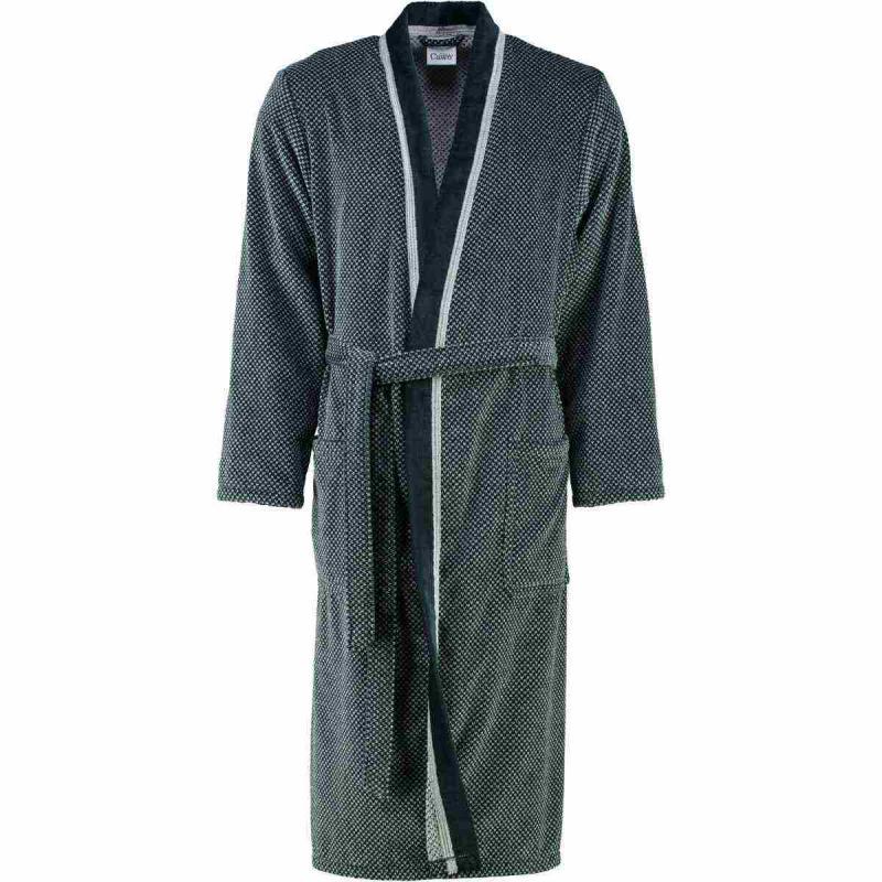 Mens bathrobe 4839-79 silber/schwarz