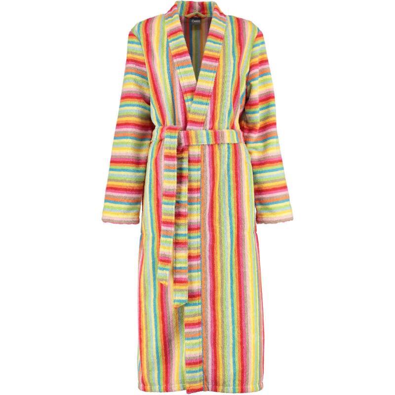 CAWÖ Womens Long Colorful Kimono Terry Bathrobe 7080-25