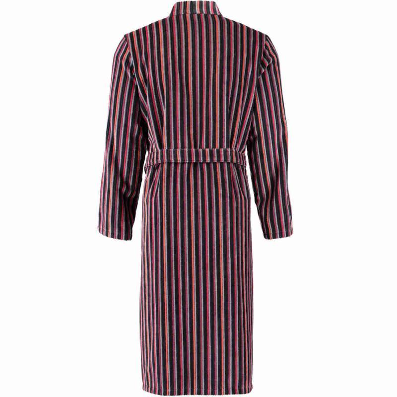 CAWÖ lång kimono morgonrock herr 6517-27 röd och antracit