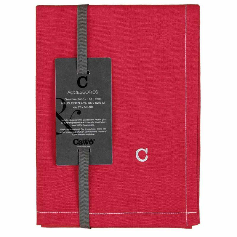 Tea Towel Cuisine Solid 50x70 bordeaux