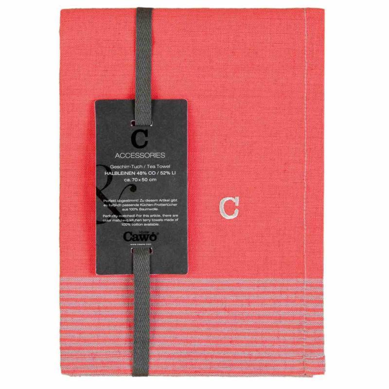 Tea Towel Cuisine Two-Tone 50x70 rot