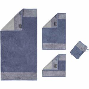 Handduk Luxury Home Two Tone 590-10 nachtblau