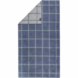 Handduk Luxury Home Two Tone Grafik 604-10 nachtblau