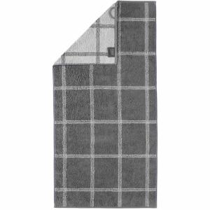 Handduk Luxury Home Two Tone Grafik 604-77 schiefer