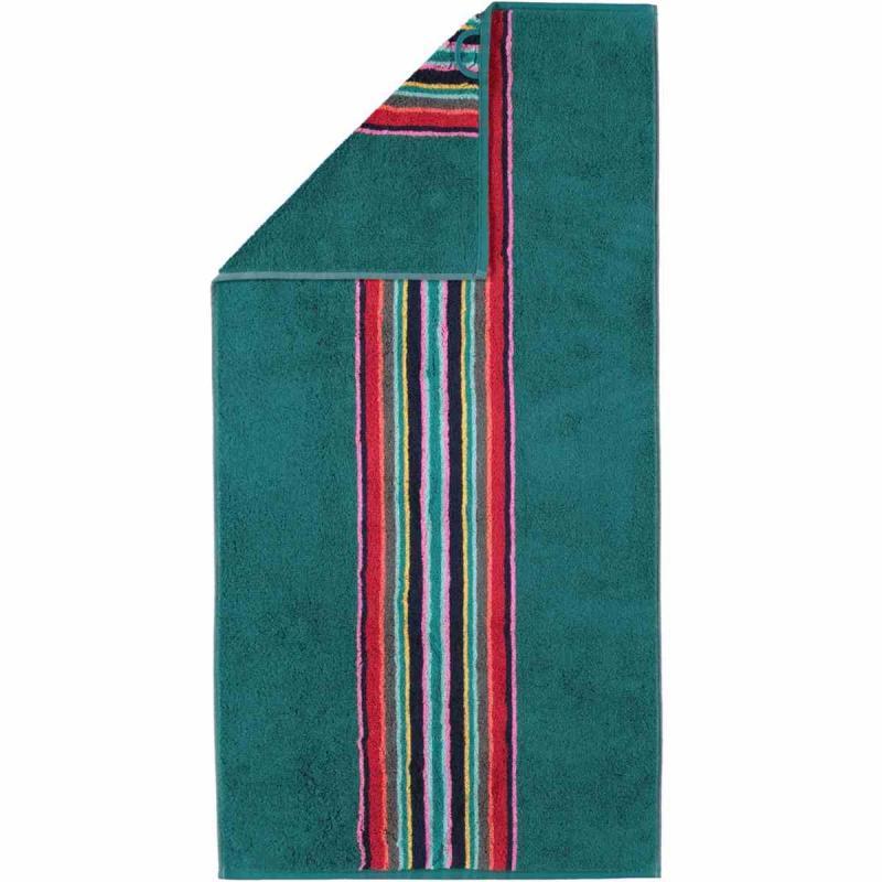 Handduk Opal Mittenstreifen 175-42 smaragd