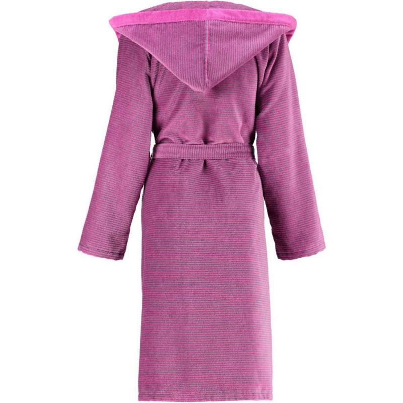 Cawö women's bathrobe long pink hooded velour robe 6425-87 online