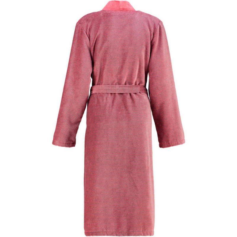Cawö morgonrock dam lång röd kimono badrock velour 6431-27