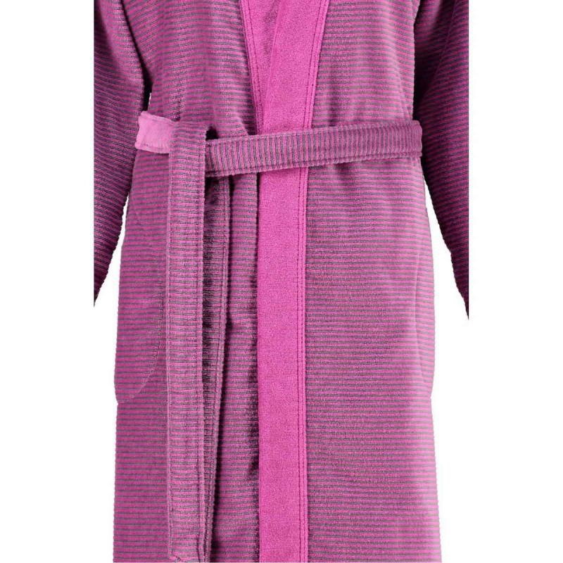 Cawö morgonrock dam lång rosa kimono badrock velour 6431-87