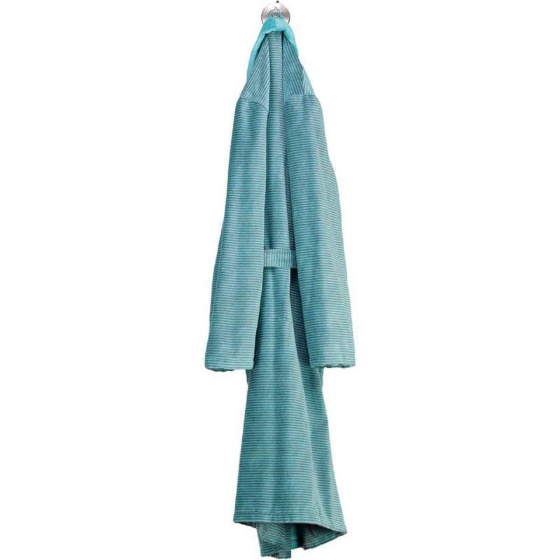 Cawö morgonrock dam lång turkos kimono badrock velour 6431-47
