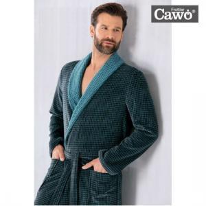 Cawö Morgonrock Herr. Mjuk Badrock Frotté Grön Antracit med Lyx Känsla. Köp online från Casa Zeytin.