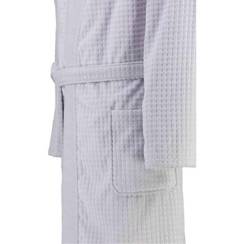 Cawö våfflad lång kimono morgonrock herr pique look 100% bomull Sterling