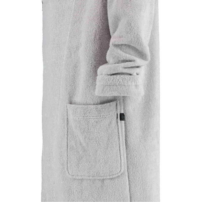 Cawö morgonrock med diagonal dragkedja och huva för men 6516-705