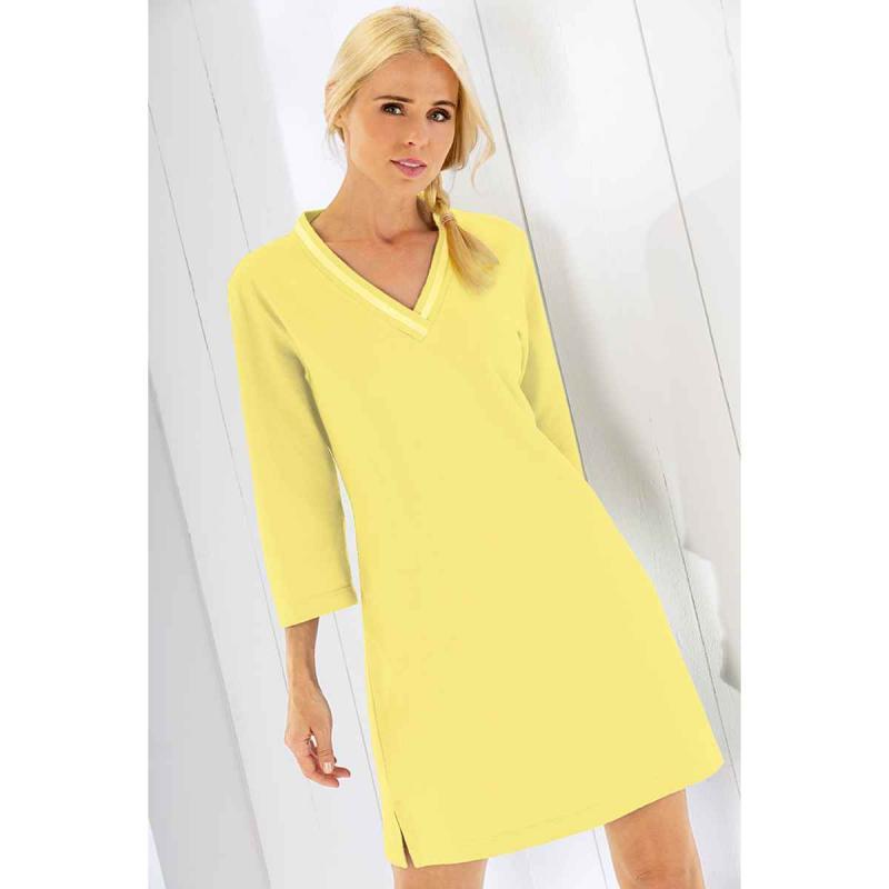 Beach dress tunic 819-55 yellow