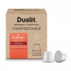 Dualit & Nesspresso kompatibla komposterbara Kaffekapslar n/x Indian Monsoon 10-pack