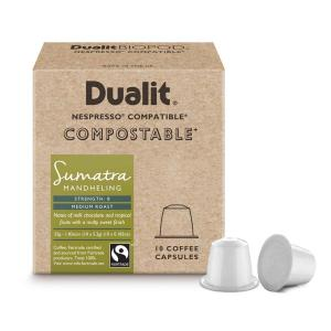 Dualit & Nesspresso kompatibla komposterbara Kaffekapslar n/x Sumatra Mandheling 10-pack