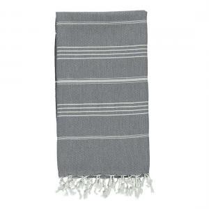 Turkish towel De La Mer Charcoal Grey XL Beach Towel