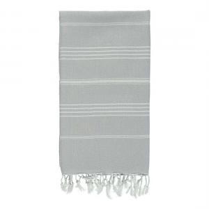 Turkish towel SULTAN Silver Grey XXL Beach Towel