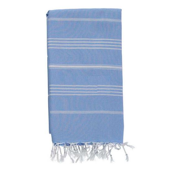 XXL Turkish towel SULTAN Sky Blue 160x230 cm 100% Cotton