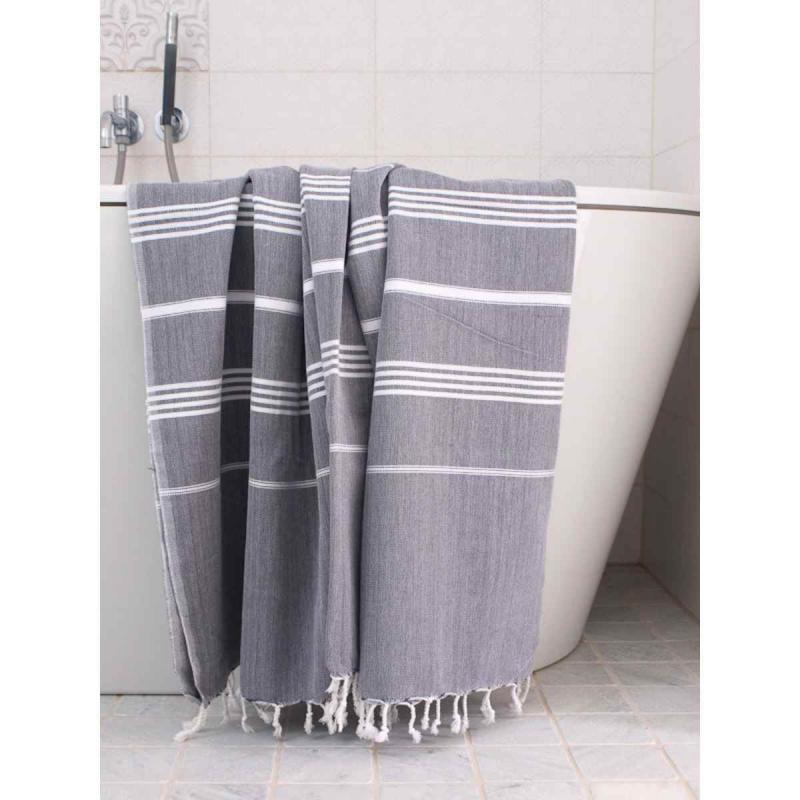 Extra Stor Hamam handduk De La Mer Charcoal Grey