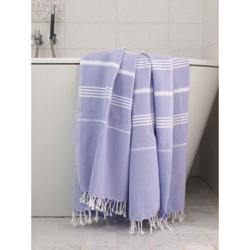 Extra stor XXL hamam handduk De La Mer lila