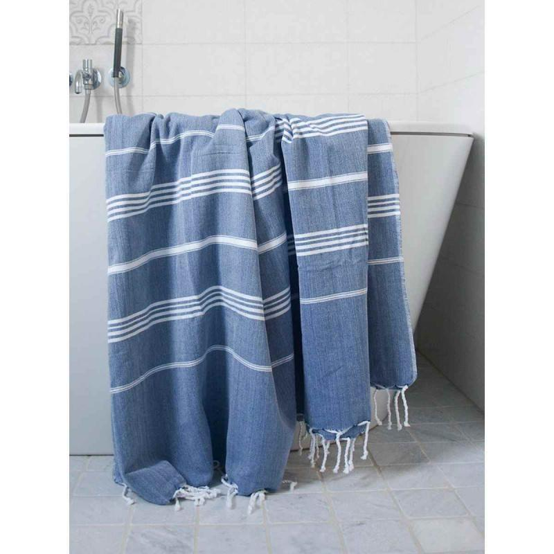 XL Turkish towel De La Mer Navy Blue