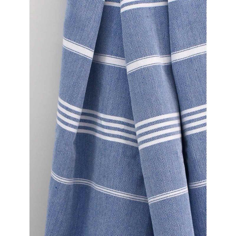 Extra stor hamam handduk De La Mer parliament blue