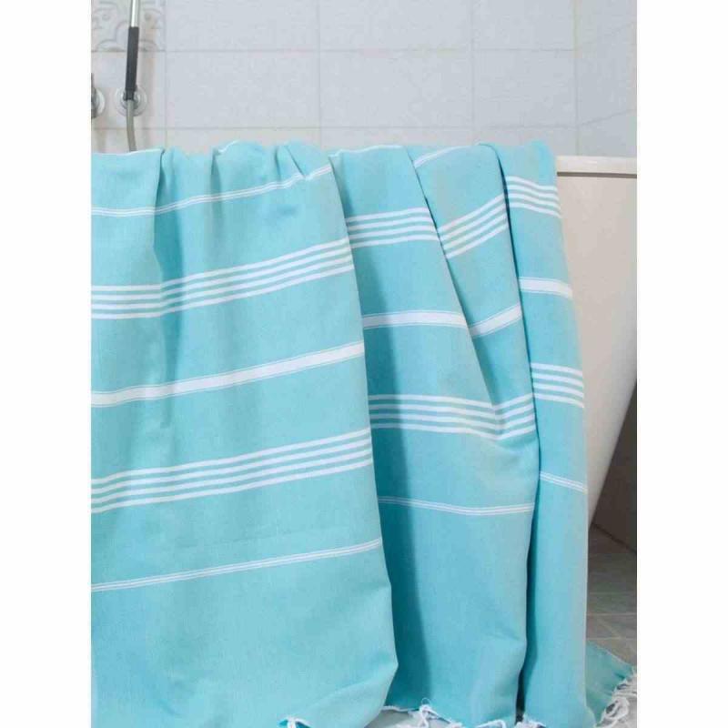 XL Turkish towel De La Mer Turquoise