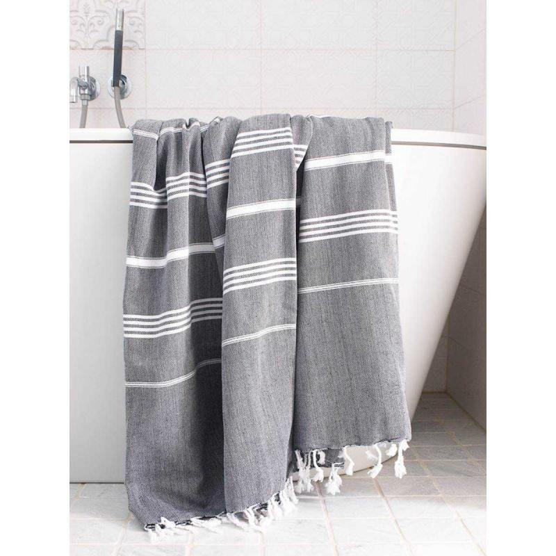 XL Turkish towel De La Mer Black