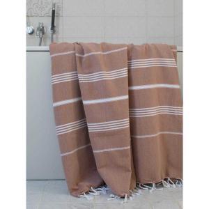 Extra stor hamam handduk Sultan brun
