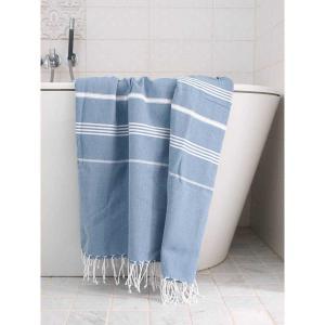 XXL Turkish towel sultan denim blue