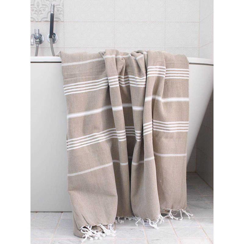XL Turkish towel De La Mer Olive Green