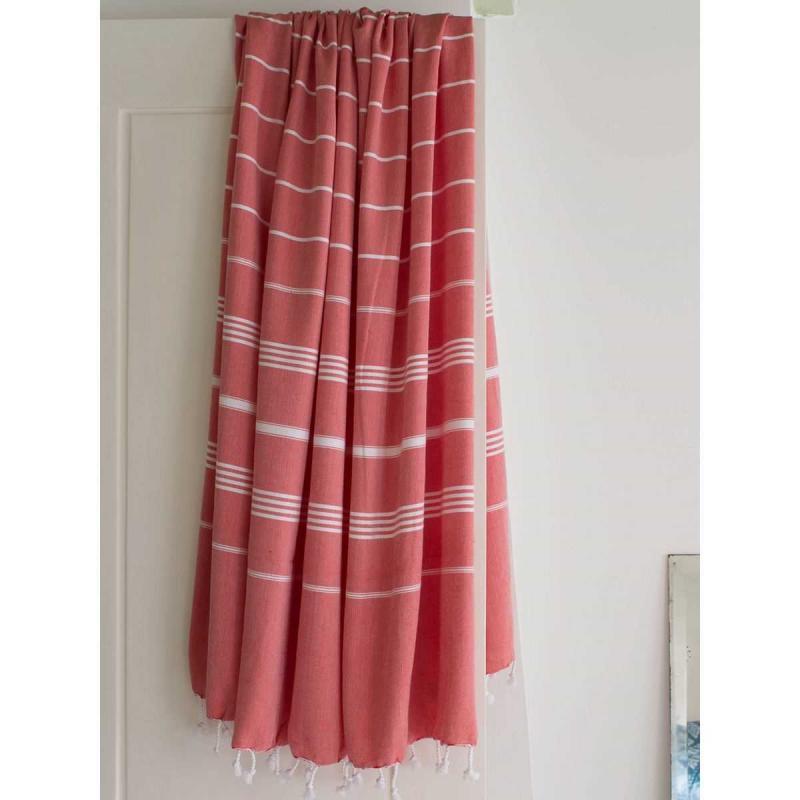 Extra Stor Hamam handduk De La Mer röd