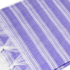 Extra tunn och lätt lila hamam handduk bomull 185x100 cm 250g