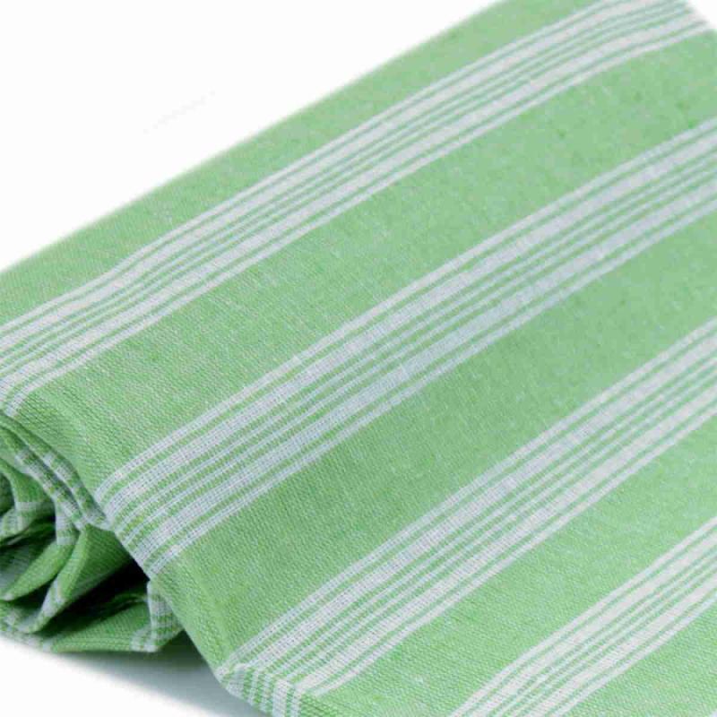 Extra tunn och lätt pistachio green hamam handduk bomull 185x100 cm 250g