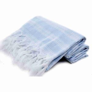 Extra tunn och lätt powder blue hamam handduk bomull 185x100 cm 250g
