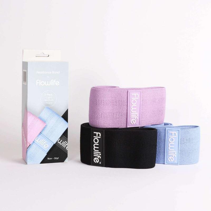 Flowband hip träningsband – 3 pack