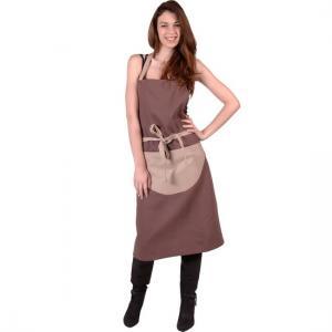 SENSEI Köksförkläde Dam Bicolore Taupe Förkläde Matlagning