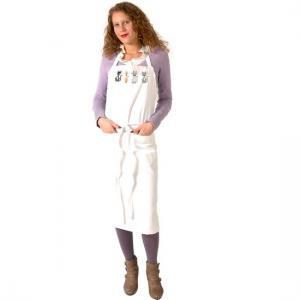 SENSEI Köksförkläde Dam CHAT CHIC Förkläde Vit för Matlagning