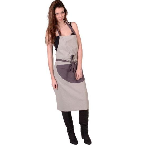 SENSEI Köksförkläde Dam Bicolore Grå Förkläde Matlagning