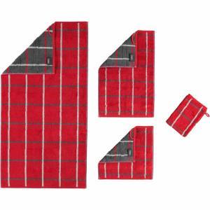 Handduk Noblesse Square 1079-27 röd