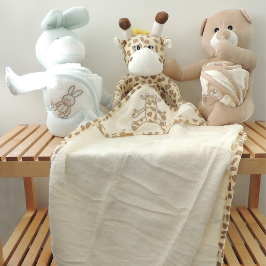 Cuddly toy and children's hooded bath towel from the French brand Sensei La Maison de Coton. Buy Online from Casa Zeytin