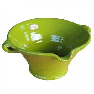 Grön stor handgjord spansk skål för t.ex. mat, frukt eller sangria