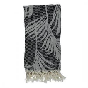 Turkish Towel Black Thin Travel, beach, Yoga Towel with Fringes