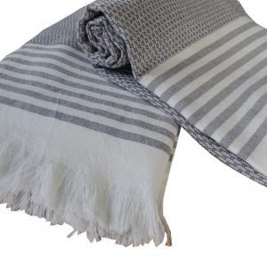 Turkish Towel Bilakis Charcoal Grey 100% Cotton 95x175 cm