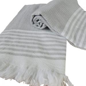 Turkish Towel Bilakis Silver Grey 100% Cotton 95x175 cm