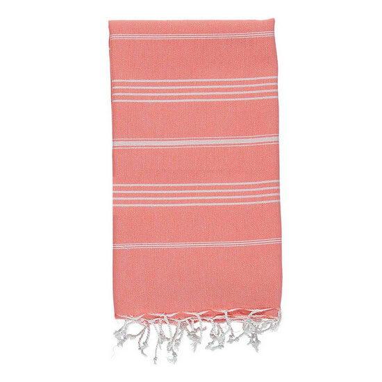 Turkish Towel De La Mer 45x90 Coral