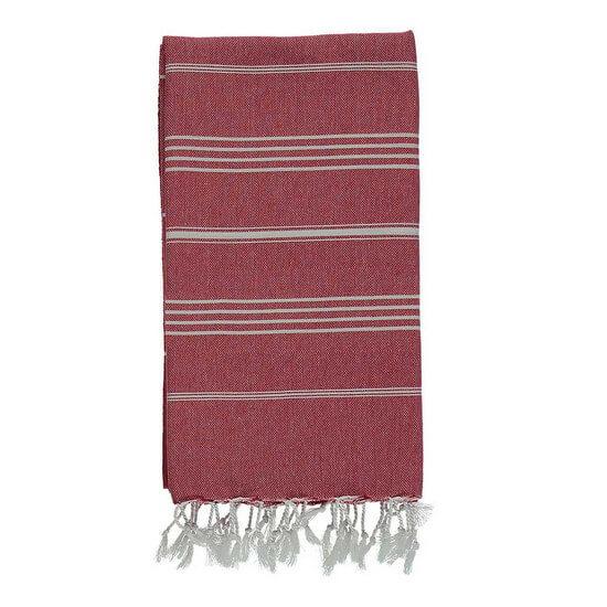 Turkish Towel De La Mer 45x90 Red