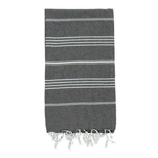 Turkish Towel De La Mer 45x90 Black
